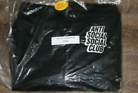 XS Anti Social Social Club Blocked Logo Zipper Hoodie XSmall 100% Authentic