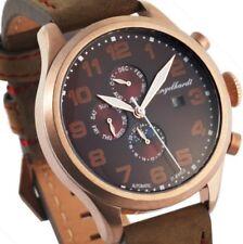 Automatik Herren Armbanduhr Kupfer/Braun Lederarmband von ENGELHARDT 289,- UVP