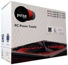 Pulse 750W PSU, ATX 12V, Active PFC, 4 x SATA, PCle, 120mm Silent Red Fan