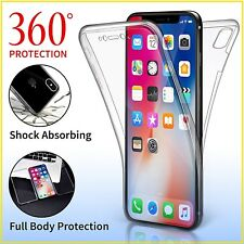 Case for iPhone XS XR Max 6 7 8 5S SE Plus Cover 360 Luxury Thin Shockproof TPU
