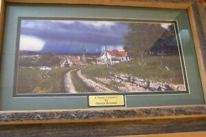"""TEXAS ARTIST~GEORGE BOUTWELL~""""A TEXAS COLLECTION""""~FRAMED PRINT~GOLD SIGNATURE"""