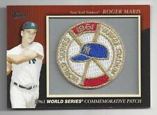 Roger Maris 2010 Topps World Series 1961 Commemorative Patch Card