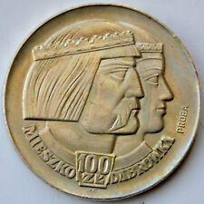 100 Złotych 1966, Polish Millennium heads; Trial Strike, Mieszko Dabrowka