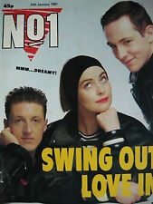 NO 1 (NUMBER ONE) MAGAZINE 24/1/87  SWING OUT SISTER - THE MISSION - THE BANGLES