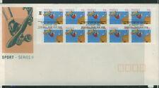 Australia 1990 Skateboarding Booklet Pane  APM22483 First Day Cover