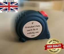 Fathers Day Gift Personalised Engraved Measuring Tape Tool Surprise Unusual Dad