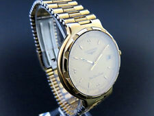 LONGINES CONQUEST Date Quartz Watch 18K Gold Plated & St.Steel [95]