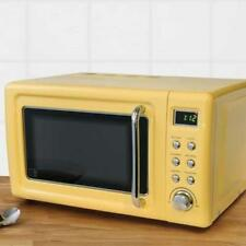 Retro Yellow Microwave 20L 800W Digital Oven / Kitchen With Easy Controls