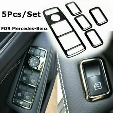 5Pcs/Lot Door lift window button decorative frame For Benz A B C E GLKML CLA GLA