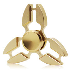 Tri Fidget Hand Spinner Metal Aluminum Focus Desk Toy EDC ADHD Autism-Gold