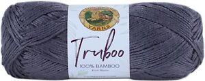 3 Pack Lion Brand Truboo Yarn-Slate -837-150