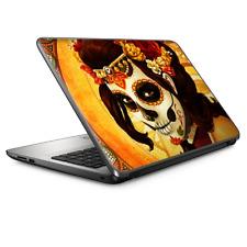 "Universal Laptop Skins wrap for 15"" - Skull Girl Dia de Los Muertos Paint"