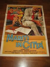 manifesto,1957,MARITI IN CITTA',Luigi Comencini,Fabrizi,Salvatori,valeri,Moll