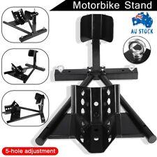 "Heavy Duty Motorcycle Motorbike Stand 15""-21""Front Wheel Chock Trailer Transport"