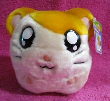 "Street Players Hamtaro Plush Coin Bank Orange White 6"" with Tags 2002 2003"
