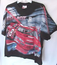Men's L Dale Earnhardt Jr. #8 T-Shirt Black NASCAR Chase Authentics 2-Sided