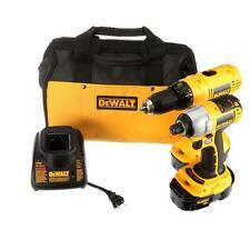 DEWALT 18-Volt Ni-Cad Yellow Cordless Combo Kit (2-Tool) Drill/Driver Compact