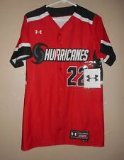 Under Armour SS Softball BF JERSEY Top Shirt SZ SMALL Red HURRICANES #22 NEW