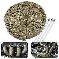 """10M 1"""" Cable Pipe Tape Wrap Roll Exhaust Heat Manifold Header + 6 Ties Kit NEW"""