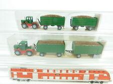 bd322-0, 5 #2x Wiking H0 / 1:87 26 384 Mercedes/MB-Trac with rübenanhängern NIP