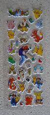 Pokemon Sticker sheet for Birthday Party Loot Bag Decoration B