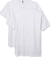 Marky G Apparel Adult Unisex Triblend Crew (2 Pack) Heather White Small New