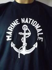 Tee-shirt marine nationale ancien logo obsolète S vintage