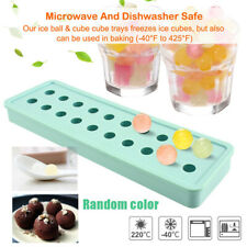 Sphere Ice Cube Ball Mold Round Tray Maker Chocolate Whiskey Cocktails Silicone