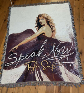 """Taylor Swift SPEAK NOW Blanket Throw Tapestry Limited Edition Official 64""""x 52"""""""