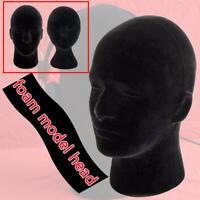 1x Male Styrofoam Foam Mannequin Manikin Head Model Wigs Cap Display Stand Good