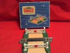 HORNBY DUBLO DIE-CAST METAL LEVEL CROSSING WITH ROAD TRACK SECTION IN BOX.V.G.C.