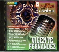 Vicente Fernandez 15 Pistas Para Cantar (Incluye Letras)    BRAND  NEW SEALED CD