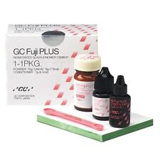 GC FUJI PLUS CEMENT 1-1-1 PACKAGE POWDER LIQUID & CONDITIONER