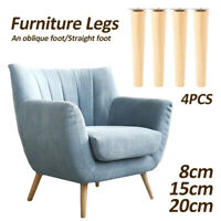 4x Wooden Furniture Legs  Pads Replacement Sofa Foot Stool Couch Cabinet Feet  0
