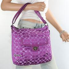 NWT Coach Penelope Signature Shoulder Bag Hand Bag Hobo F19232 Purple New  RARE