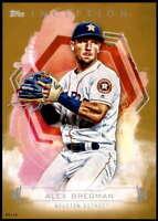 Alex Bregman 2019 Topps Inception 5x7 Gold #39 /10 Astros