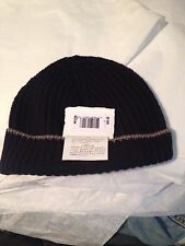 Brunello Cucinelli 100% cashmere navy hat beanie large - GUARANTEED AUTHENTIC
