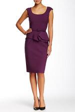 Oscar de La Renta Cap Sleeve Scoop Neck Peplum Sz 4 Dress New $2290