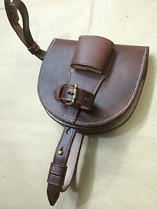 LIGHT HORSE WWI Leather Horseshoe Case - ANTIQUE BROWN