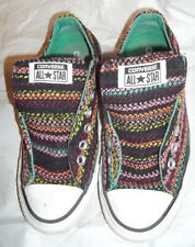 Converse All Stars Low Multi-Color Knit Skate Shoes Women Size 7 Nice Free Ship