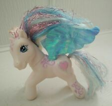 Vintage My Little Pony Star Catcher 2004 Hasbro White Pony Blue Hair