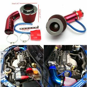 "Air Intake Kit Red Pipe Diameter 3"" +Cold Air Intake Filter+ Clamp+ Accessories"