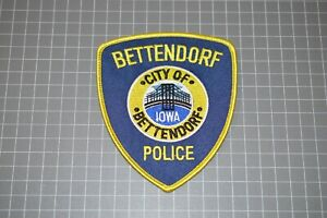 City Of Bettendorf Iowa Police Department Patch (B17-W)