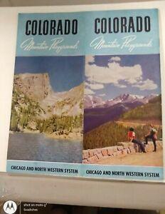 1948 Chicago & Northwestern Railroad CNW Colorado Mountain Playgrounds Brochure