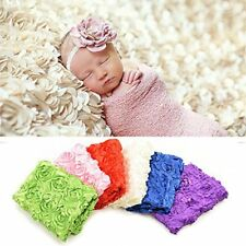Newborn Baby Pink 3D Rose Flower Photography Photo Props Blanket Beanbag Rug New