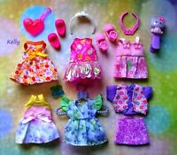 🌿🌿🌿Lot of Barbie Kelly doll clothes,accessories plus shoes 🍇🍇🍇