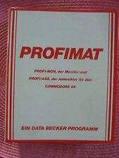 Commodore C64 Profimat Data Becker - Assembler PROFI-ASS und Monitor PROFI-MON
