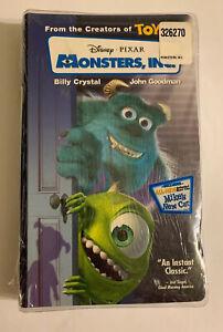 Monsters, Inc. VHS 2002 ClamShell Billy Crystal John Goodman Disney Sealed