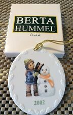 2002 Berta Hummel Perfect Fit Oval Disc 2 Sided Ornament