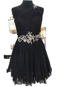 New Forever Unique Short Black Dress 10